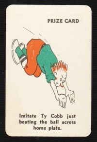 Ty Cobb 1935 Whitman Party Stunts