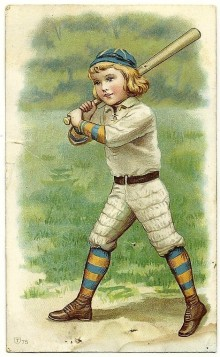 Young Batter with Blue-Orange Socks #207 Trade Card - Copy