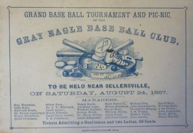 1867 Gray Eagle Baseball Club Trade Card