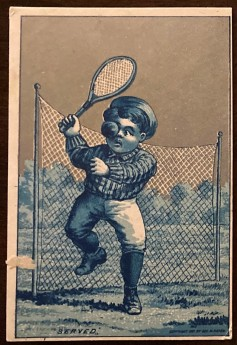 1881 George Hayes Tennis Trade Card Silver Variation
