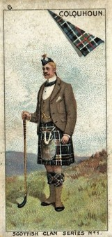 1903 Scottish Clan Golf Card