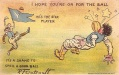 1905 Outcault Harvard Yale Football Postcard