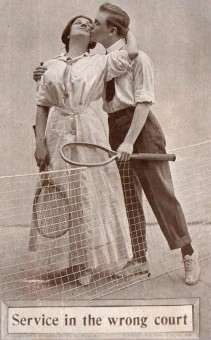 1910 Colonial Art - F.G. Henry Tennis Postcard