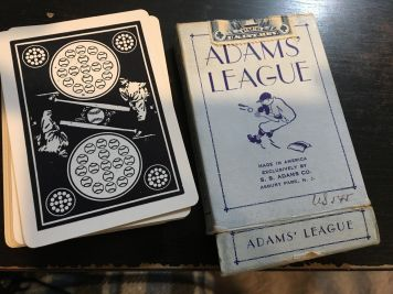 1914 Adams League Playing Cards