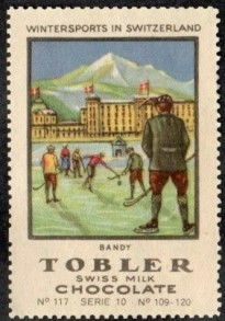1922 Tobler Wintersport Hockey Bandy Stamp