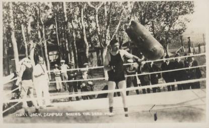1923 Wesley Andrews Jack Dempsey Postcard