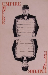 1930s Waner Baseball Game Umpire Card