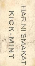 1931 Swedish Kanolds Kick-Mint Back