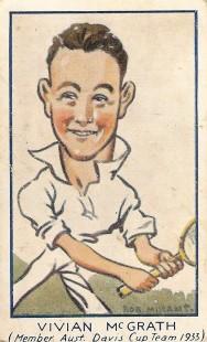 1933 Carreras Turf Personalities Tennis