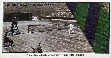 1934 Churchman Well Known Ties Tennis