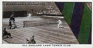 1934 Churchman Well Known Ties Tennis