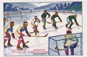 Diamantine Schuhputz Hockey Trade Card