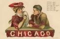 Earl Christy Embossed College Series Postcard
