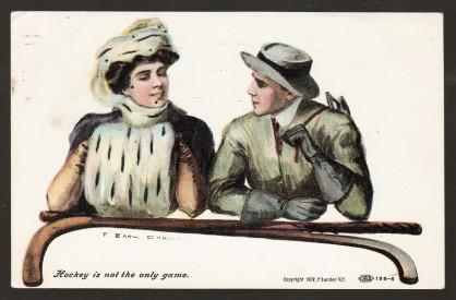 Earl Christy P. Sander Postcard - Hockey (1907)