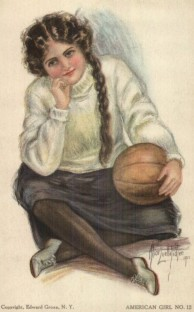 Fidler American Girl Basketball Postcard