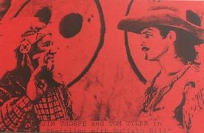 Jim Thorpe Buffalo Bill Red Strip Card