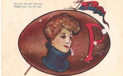 OIlette Tuck Football 2344 Postcard