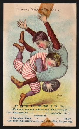 R873 Football Trade Card - Running Through the Centre (1880s-1890s)