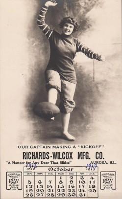 Richards-Wilcox Football Trade Card (1913)
