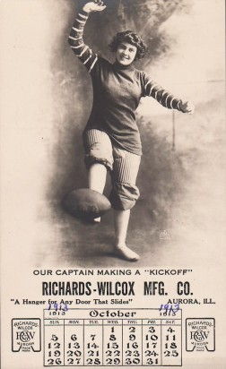 Richards-Wilcox Football Trade Card (1913)