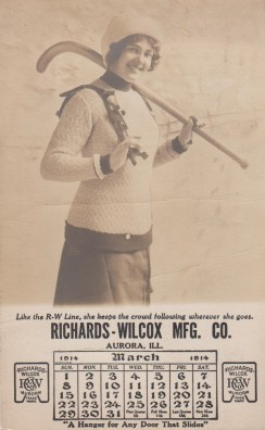 Richards-Wilcox Hockey Trade Card