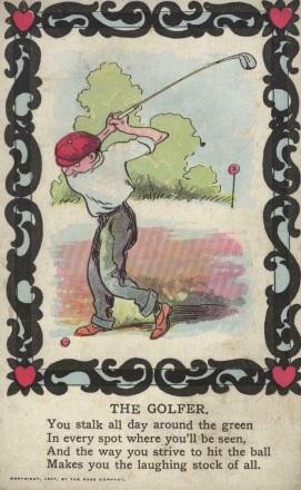 Rose Company 1907 Golf Postcard