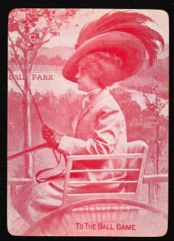 To the Ball Game Playing Card #1 (1906)