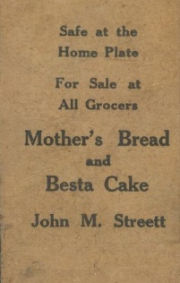 W514 Mothers Bread Vertical Back Strip Card