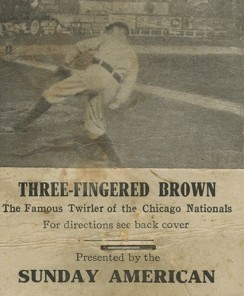 1906 Boston Sunday American Three Finger Brown Flip Book