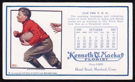 1925 Thomas Murphy Football Blotter