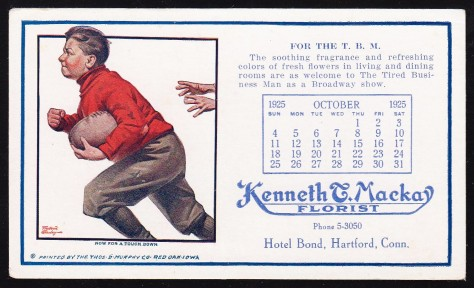 1925 Thomas Murphy Football Blotter