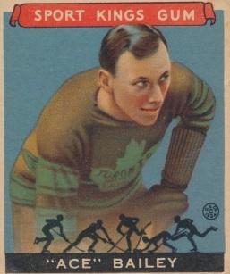Ace Bailey 1933 Goudey Sport Kings Hockey