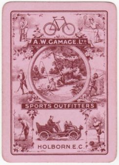 AW Gamage Sports Outfitters Playing Card Red