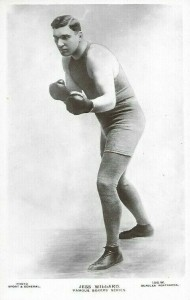 Beagles Famous Boxers Postcard Jess Willard