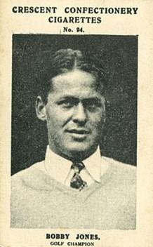 Bobby Jones 1928 Crescent Sportsmen Golf
