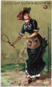 Chocolat Guerin-Boutron Trade Card Tennis