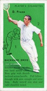 Daniel Prenn 1936 Players Tennis Correction