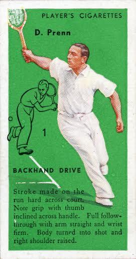 Daniel Prenn 1936 Players Tennis Error