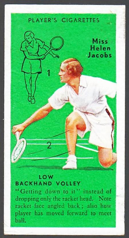 Helen Jacobs 1936 Players Tennis