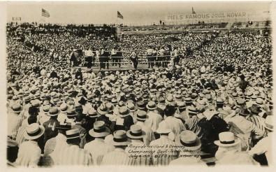 Jack Dempsey Jess Willard 1919 RPPC IFS Postcard