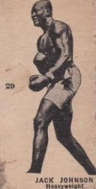 Jack Johnson W580 Boxing with Number 29