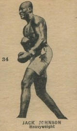 Jack Johnson W580 Boxing with Number 34