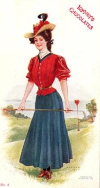 lowney's chocolates college girls postcard 2