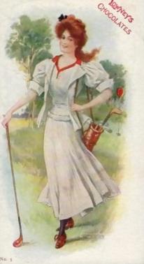 lowney's chocolates college girls postcard