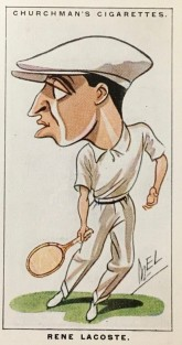 Rene Lacoste Churchman Tennis Men of the Moment