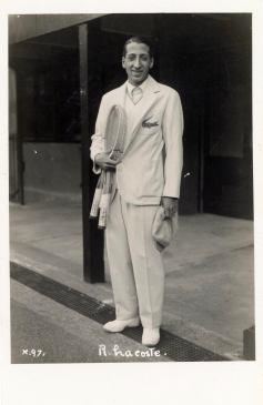 Rene Lacoste E. Trim and Company Tennis Postcard