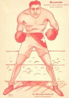 Suchard Chocolates Boxing Postcard