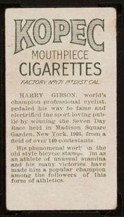T229 1910 Kopec Cigarettes