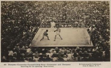Underwood and Underwood Jack Dempsey Georges Carpentier RPPC Postcards