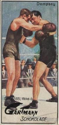 1926 Gartmann Chocolates Jack Dempsey Boxing
